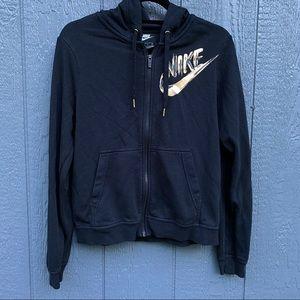Nike Black Hoodie Rose Gold Logo S